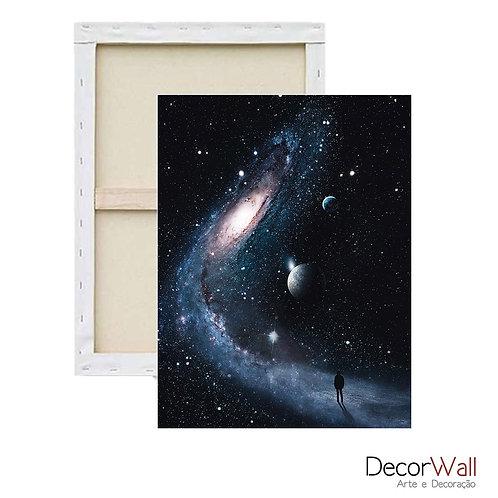 Quadro Decorativo Canvas Collage Espaço Galaxias Abstrato