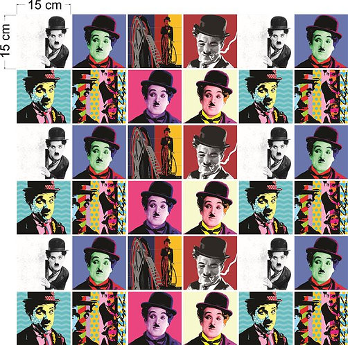Adesivos Para Azulejo - Charles Chaplin