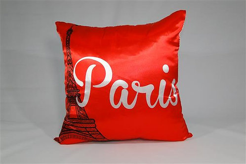 Almofada em Cetim 45cm x 45cm Paris