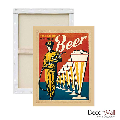 Quadro Decorativo Canvas Frases Bebidas e Cerveja Artistico