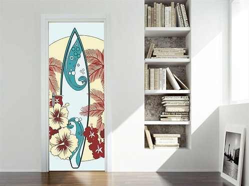 Adesivo para Porta - Prancha de Surf