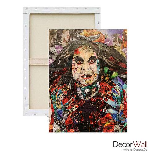 Quadro Decorativo Canvas Collage Mulher Abstrato