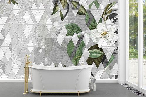 Foto Mural Artistico Geométrico Tropical