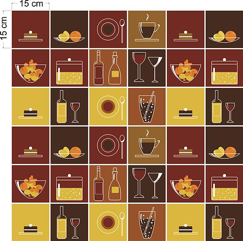 Adesivos Para Azulejo - Gastronômico Vector
