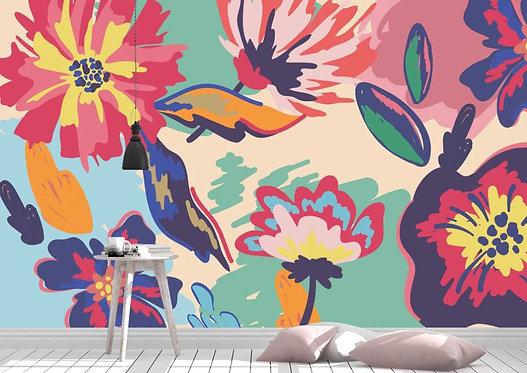 Foto Mural Artístico Desenho de Flores