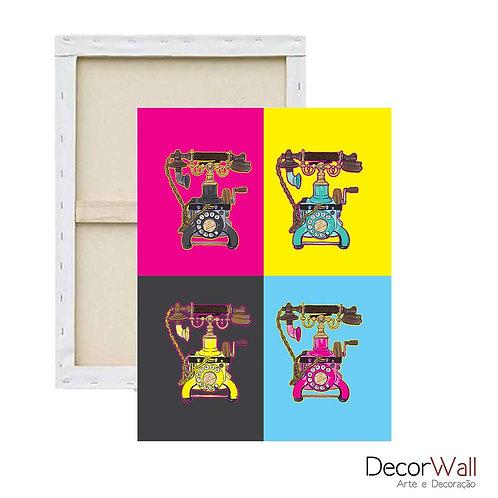 Quadro Decorativo Canvas Telefones Retro Coloridos