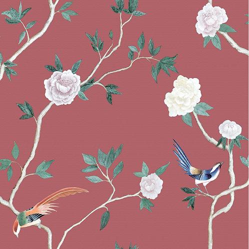 Papel de Parede Floral Vinílico - Diplomata3141