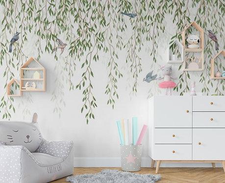 Foto Mural Infantil Floral