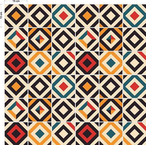 Adesivos Para Azulejo - Quadrados Coloridos