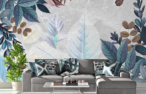 Foto Mural Artistico Folhas Modernas