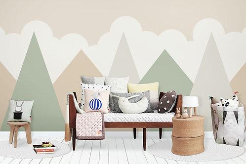 Foto Mural Artistico Montanhas Infantil