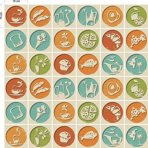 Adesivos Para Azulejo - Gastronomia Artística