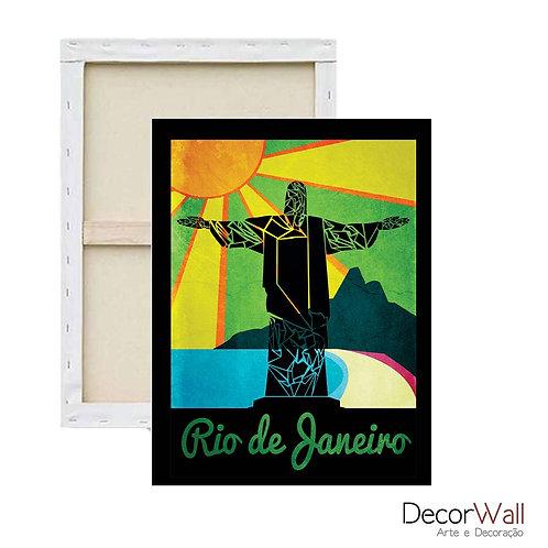 Quadro Decorativo Canvas  Rio de Janeiro Cristo Redentor artistico
