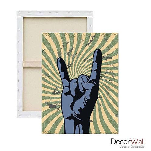 Quadro Decorativo Canvas Rock n Roll Mão