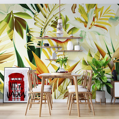Foto Mural Artístico Folhas Tropical