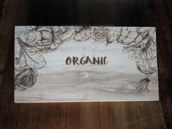 Organic Cutting board engraving