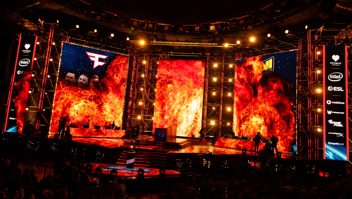 IEM Katowice Main Stage Fire