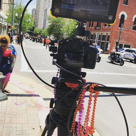 Can you tell we are shooting a Mardi Gra