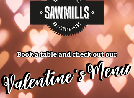 Check out the Sawmills Valentine's Menu