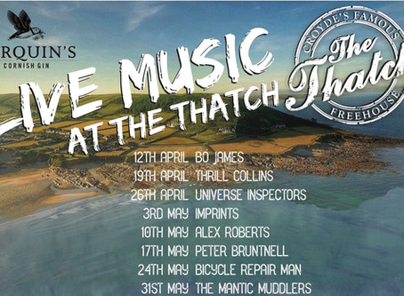 #ThatchFridays are coming! Join us for six months of great music at The Thatch.