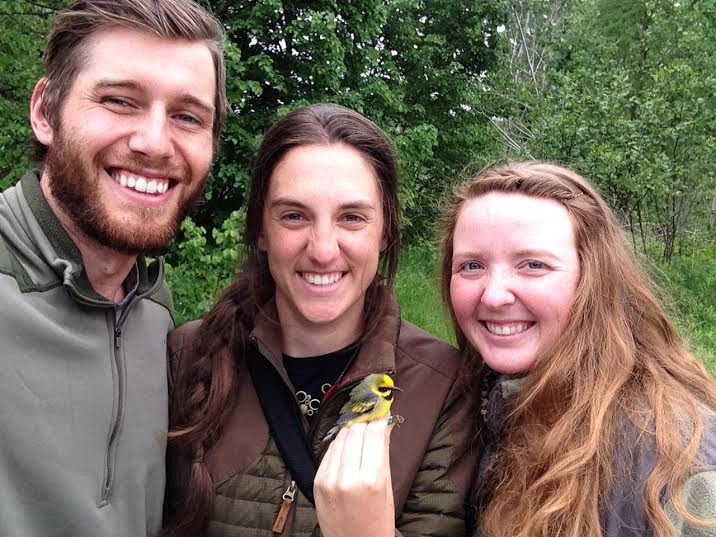 Gunnar Kate and Cassie with Lawrence's Warbler.jpg