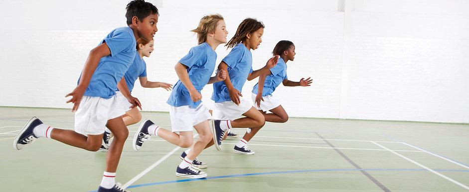 Healthy, active kids running