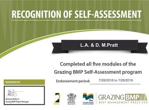 Grazing BMP Certificate