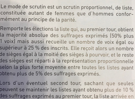 Municipal elections - procedure explained in French