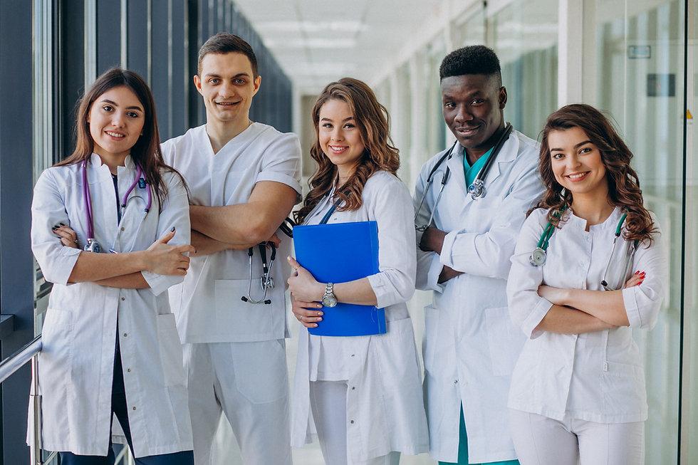 Hospital healthcare staff