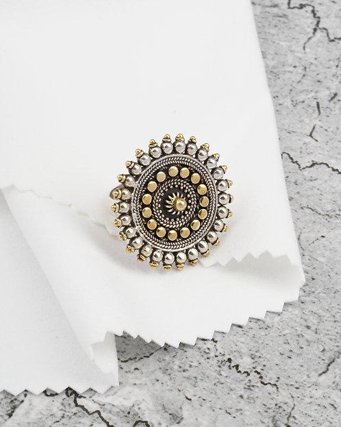 Gold Plated Silver Rawa Ring
