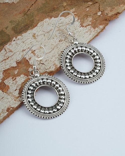 Silver Sun Design Rawa Dangle Earrings