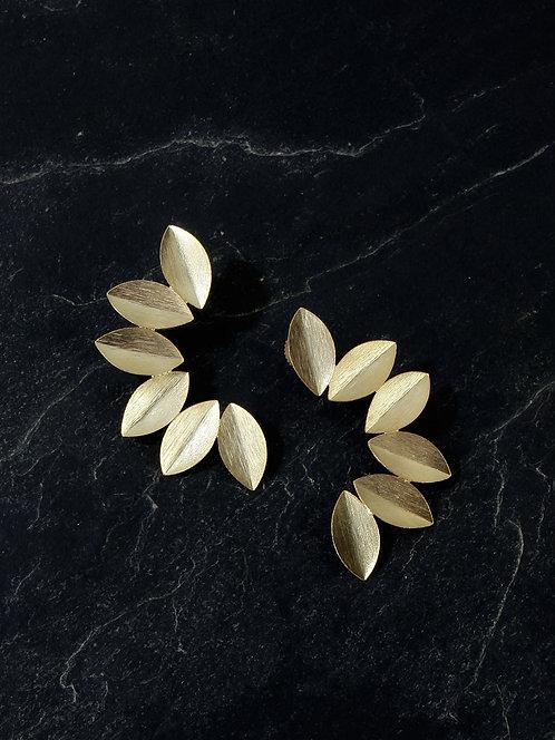 Berserk Gold Plated Leaf Cuffs