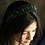 Thumbnail: Black Star Velvet Beads Headband