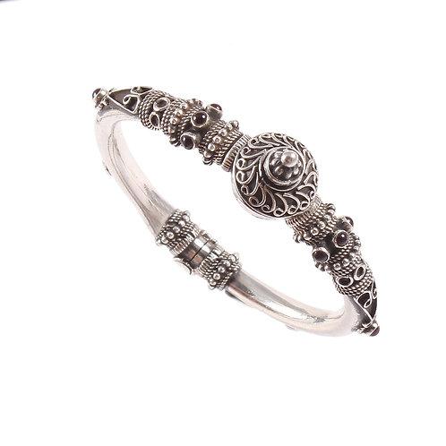 Silver Temple Jewelry Statement Rawa Bangle