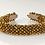 Thumbnail: Golden Chrysanthemum Satin Covered Headband