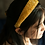 Thumbnail: Ivory Satin Headband with Crystal Bicone Beads