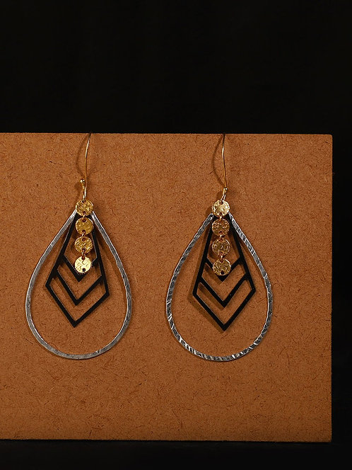 Berserk Gold-Silver Plated Teardrop Loops