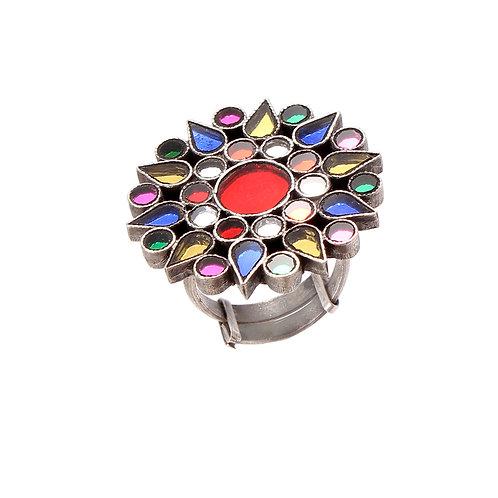 Silver Adorable Floral Design, Ring