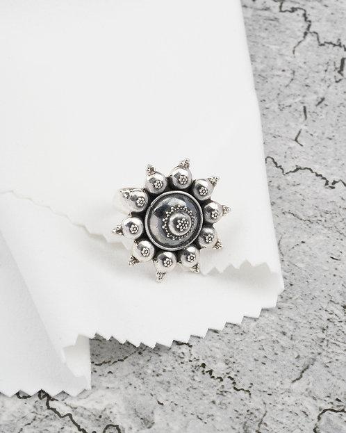 Oxidized Silver Rawa Ring