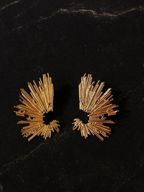Berserk Gold Plated Abstract Cuffs