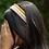 Thumbnail: Pink Crystal Satin Covered Headband