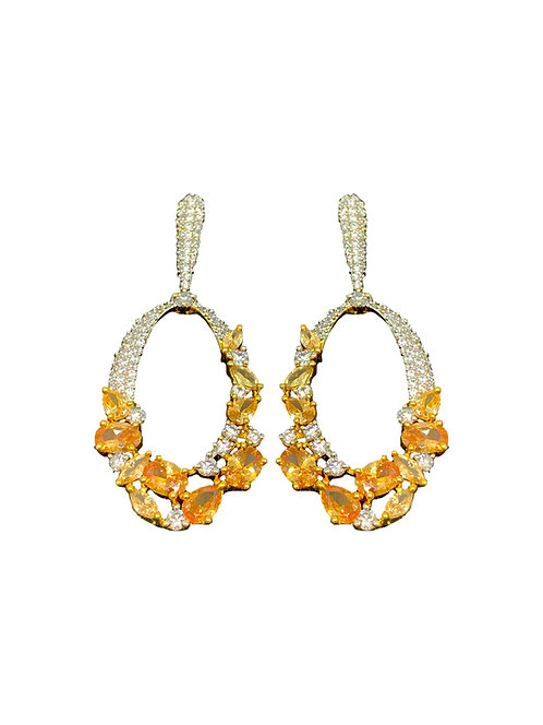 Statement yellow stone earrings