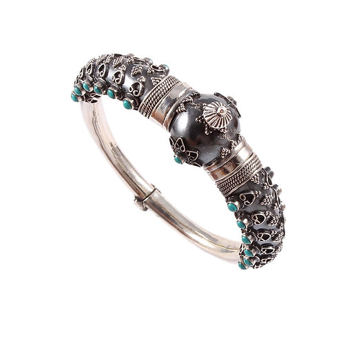 Silver Temple Jewellery, Oxidized Bangle