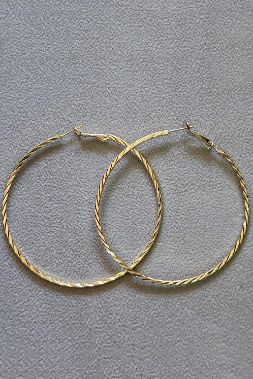 Lilliana Gold Hoop Earrings