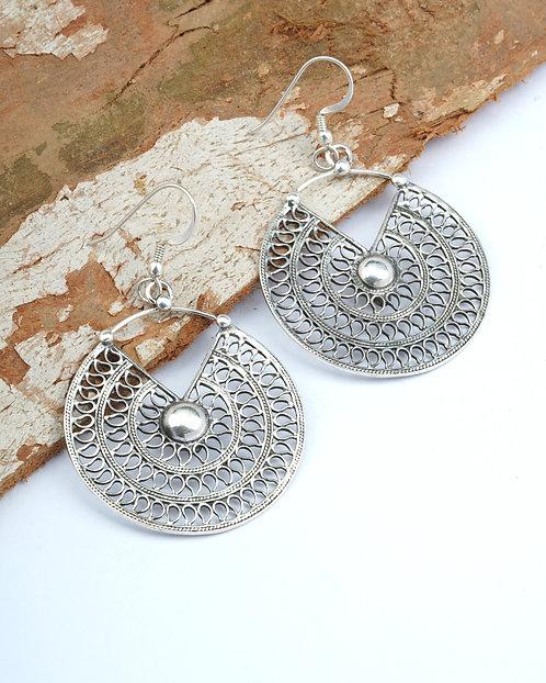 Silver Designer Dangle Earrings