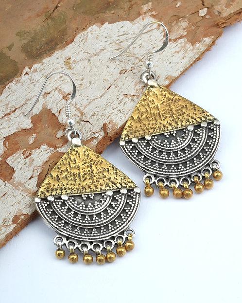 Gold Plated Silver Ghungroo Dangle Earrings