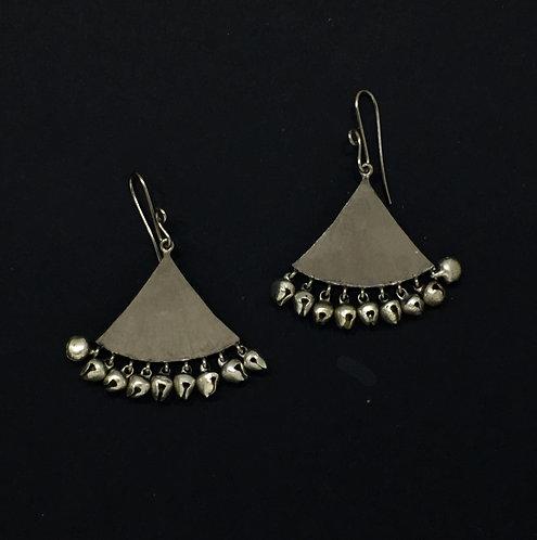Traiangular ghooghri earrings
