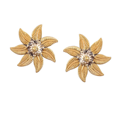 Silver Gold Plated, Adorable Floral Ear Tops