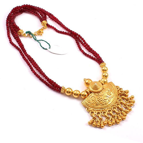 Silver Gold Plated, Adorable Floral, Neckpiece With Ghungroos