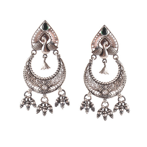 Silver Tear-Drop Stud Earrings